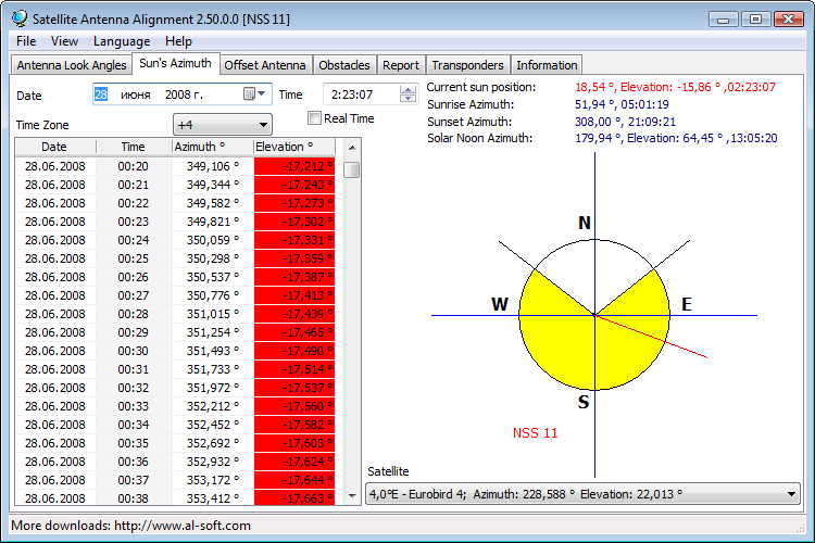 download free software for satellite dish setting
